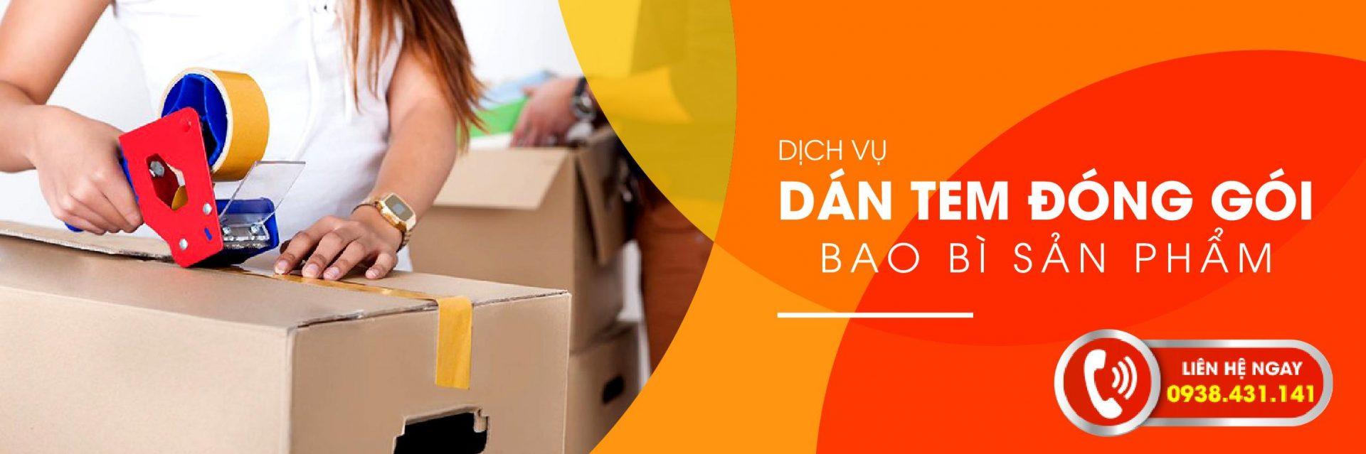 Dịch vụ dán tem đóng gói bao bì sản phẩm