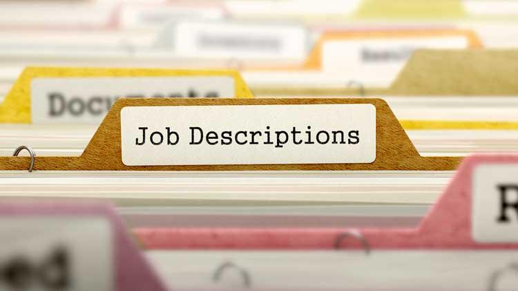 bảng mô tả công việc